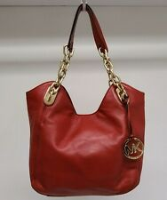 Michael Kors Soft Red Leather Chain Tote