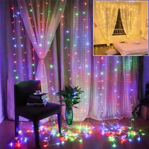 Endres LED Außenlichtervorhang Lichtervorhang Rot 2x9 m Weihnachten EWLR-798 4