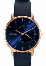 Withings - Connected Watch - Smartwatch - Move Timeless Chic - Leather Blue Rose