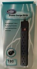 SURGEXPERT POWER SURGE STRIP 6 OUTLETS 12000 AMPS MAX SPIKE 51W1-12215