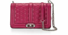 Rebecca Minkoff Quilted Love Crossbody Bag leather Magenta