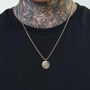 Mens Closure London Compass Pendant Necklace   Gold