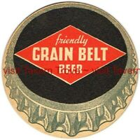 "1940s MINNESOTA Minneapolis GRAIN BELT BEER 4¼"" Tavern Trove"
