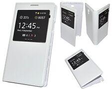 HOUSSE ETUI FLIP S-VIEW BLANC pour SAMSUNG GALAXY NOTE 3 LITE NEO Lte N7505