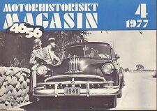 Motorhistoriskt Magasin Swedish Car Magazine 4 1977 Pontiac 040317nonDBE