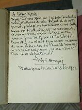 Giuseppe Foglia scultore 1932 Envoi Victor Méric Exemplaire imprimé spécialement