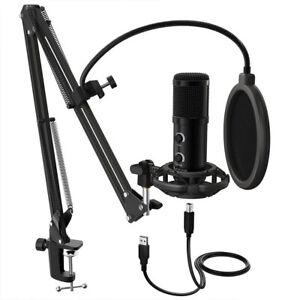 Fifine USB Desk Arm Studio Condenser Microphone /Broadcast/Voice/Podcast/Gaming