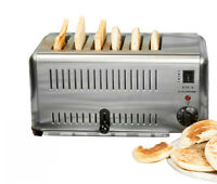 Stainless Steel 6-slice Electric Bread Toaster Machine Commercial Use 220V