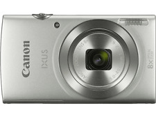 Cámara - Canon Ixus 185, 20 mpx, 8x, HD, Funda, Plata