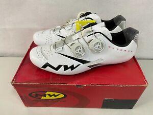 (Defect) Northwave Extreme Tech Plus Bike Shoes White Black Size 42