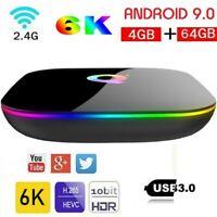 2020 Android 9.0 Smart TV Box Q-BOX Q+ Q Plus Amlogic Quad Core 4GB+64GB WIFI 6K