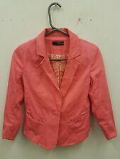 Jane Norman Ladies Red Orange Blazer Jacket UK 6 Party Occasion BNWOT