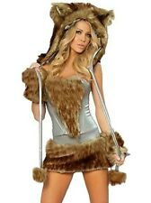 Brand new sexy brown artic wolf party costume outfit  Size 8/10