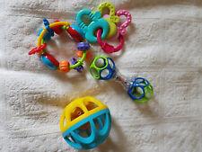 Babyspielzeug 4 Teile gebraucht (greifen und rasseln)