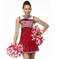 Ladies Glee Cheerleader School Girl Fancy Dress Uniform Party Costume Outfit