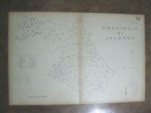 stampa mappa COMUNI DELLA PROVINCIA DI SALERNO CAMPANIA NOCERA EBOLI  1938