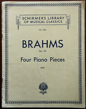 Schirmer's Library of Musical Classics No.1502 Brahms Op.119 4 Piano Pieces 1926