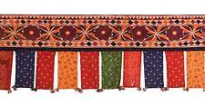 Vintage Embroidery Toran Door Window Hanging Tribal Wall Decor Indian Valance