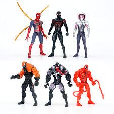 6Pcs Marvel Spider Man Black Red Venom Gwen 17cm Action Figure Model Toys Gift
