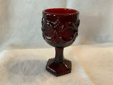 """Small Avon Ruby Red Wine Cordial Goblet Glass 4.5"""""""