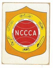 Old Original Hot Rod Decal NATIONAL CUSTOM CAR CLUB ASSOCIATION 1960's Very Rare