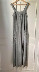 Beautiful igigi Silk Blend Duck Egg Handmade Long Jumpsuit O/S 10 12 14 £199