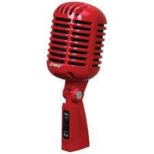 PYLE PDMICR42R Classic Retro Vintage Style Dynamic Vocal Microphone (Red)