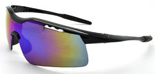 Mohawk WOLF Vented Cycling Sunglasses Black with Sunburst Mirror Lens Y125