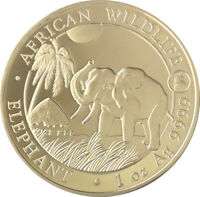 2017 100 Shillings Somalia Elephant Coin - 1oz Silver (Rooster Privy)