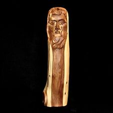 """Cedar Wood Santo Carving by Chris White of Taos New Mexico, 13.5"""" tall"""
