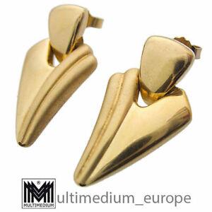 8ct Gold Ohrringe Ohrstecker Dreieck hohl earring 333 8k triangular hollow ❀☺❀