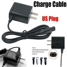 US Plug Charge Cable Power Cord Adapter for Philips QP2520 S528 S526 S529 Shaver