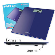 Digital Bathroom Scales Salter Ultra Slim Glass Electronic Personal Body Weight