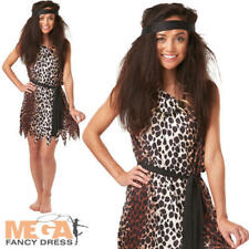 Cavewoman Ladies Fancy Dress Barbarian Cave Girl Womens Adults Costume Outfit