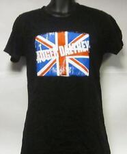 Roger Daltrey(T Shirt)British Flag Black-Ladies Large-New