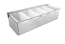 Condiment Dispenser Quart Compartment Chilled Server Bar Fruit Caddy Food Tray 5