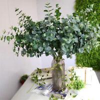 New Artificial Fake Silk Flower Eucalyptus Plant Green Leaves Hotel Home Decor C