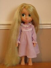 Disney Store Tangled Animator Toddler Rapunzel Doll - Glittery Hair 1st Edition