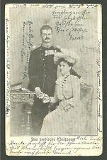 1903 Postcard Of Serbian King & Queen Postmarked In Lemberg Serbia Europe