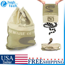 Heavy Duty Snake Catching Pouch Safe Reptile Herp Hunting Bag Sack w/ Drawstring