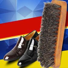Professional Practical Horse Hair Shoe Shine Polish Buffing Brush Wooden  New.US