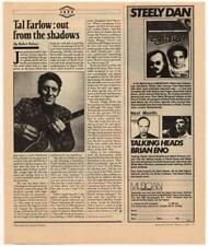 Tal Farlow Interview/article 1981 RS-UINB