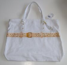 Disney Parks Authentic Original Hidden Mickey Studded Buckle Canvas Tote Bag