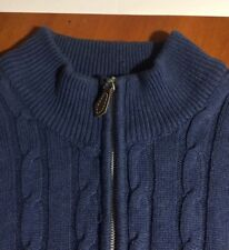 Lyle and Scott Scotland Heavy Cotton Knit Pullover Zipper Front-Size LG-SH FREE