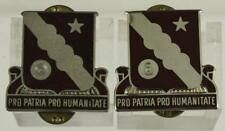 Vintage US Military DUI Insignia Pin Set PRO PARTIA PRO HUMANITATE