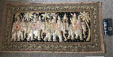 More details for vintage embroidered thai buddha elephant 3d decorative hanging rug art piece