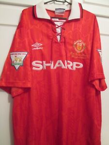 Giggs #11 Manchester United Champions 1992-93 Home Football Shirt xl 44740