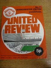 03/04/1972 Manchester United v Liverpool  (creasing). Thanks for viewing our ite