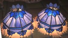 Set of 2 Tiffany Style hanging Ceiling Lamp Pre-Owned good Condition.Beautiful.