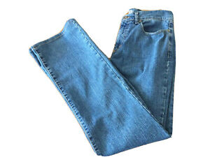 """Ladies Italian Designer JonnyQ Blue Denim Bootcut Jeans Uk12 Eu38 30""""w 31""""L T980"""